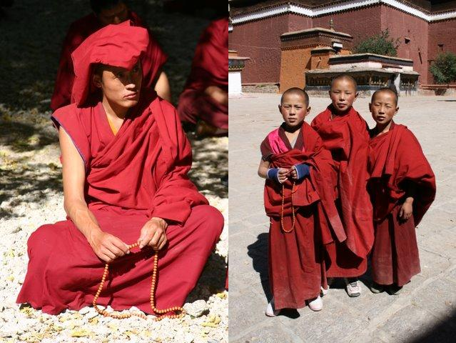Young Monks at the Kumbum in Gyantse-Monk at Sera Monastery