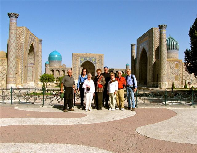 Recent group at the Registan in Samarkand